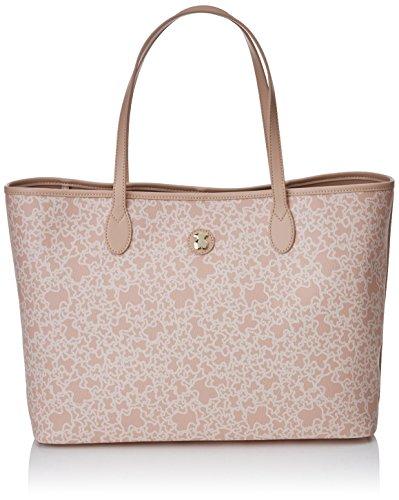 TOUS Capazo Super Grande Kaos Mini, Bolso totes para Mujer, Beige (Rosa), 14x29x40 cm (W x H x L)