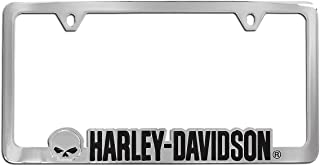 Harley-Davidson Willie G. Cutout Chrome Plate Two Hole License Plate Frame
