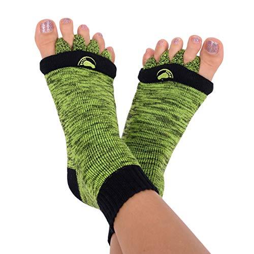 Original Foot Alignment Socks Medium Womens 7-9/ Mens 5-8 Green/Black Happy Feet (Medium)