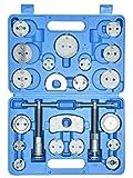 CNWOOAIVE Reposicionador de Pistones de Freno, 22 Piezas Resetter de pistón Kit Reposición Pistón de Freno pistón Placa Trasera Set