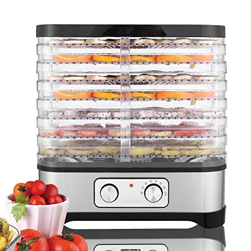 Healthy Material Food Dehydrator Adjustable Temperature Food Dehydrator For Fruits Vegetables and Meat Bpa-Free Tray 250W High Power Easy To Operate(7 Layer)