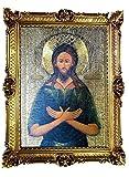 Cuadro de imágenes de Jesús Ortodoxo de la Madre, Icona de Bizantina, Iconografía religiosa, 70 x 90 cm