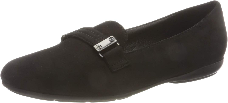 Geox Women's D ANNYTAH A Loafer Flat, Black, 6.5