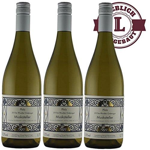 Weißwein Pfalz Muskateller Weingut Krieger Rhodter Ordensgut lieblich (3 x 0,75 l)