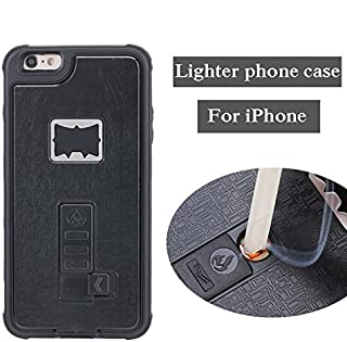 iPhone 7 Plus Case, Multi-Functional Built-in Cigarette Lighter & Bottle Opener Protective Shock Proof Cover for Apple iPhone 7 Plus (Black)