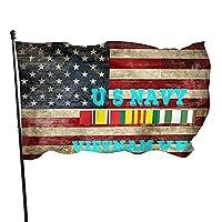 アメリカの国旗レトロ米国海軍ベトナム獣医の庭の旗3x5フィートウェルカムガーデンの旗ポリエステルガーデンの旗農場のために耐久性