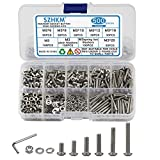 SZHKM 500pcs M3 Nuts and Bolts Assortment Stainless Steel Machine Screws Metric M3 Screws and Nuts Set Hex M3 Bolt Kit with Wrench