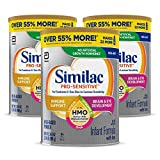 Similac Pro-Sensitive Non-GMO Infant Formula with Iron, with 2'-FL HMO, for Immune Support, Baby Formula, Powder, 34.9 oz, 3 Count (One-Month Supply)