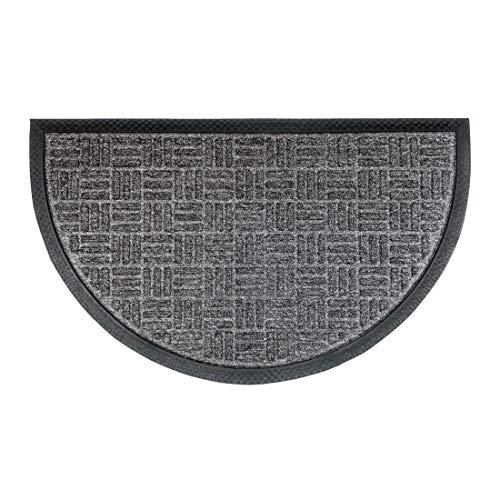 deco-mat Robuster Fußabtreter für Aussen • Türmatte rutschfest mit Gummi-Bürste • Schmutzfangmatte für Haustür • Fußmatte Grau • HR 45 x 75 cm