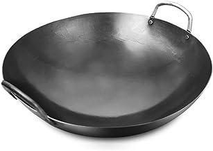 صهر بمنقار مصنوع من الحديد بدون طلاء وعاء طهي غير لاصق للمنزل أدوات المطبخ اليدوية 40 سم إلى 80 سم لموقد غاز 43 سم