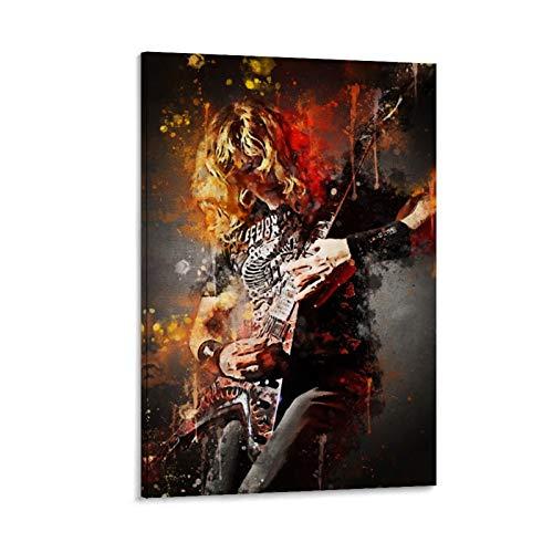 YZLI Póster decorativo de la pared del guitarrista de los años 80...