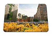 26cmx21cm マウスパッド (ニューヨーク建物通り草空) パターンカスタムの マウスパッド