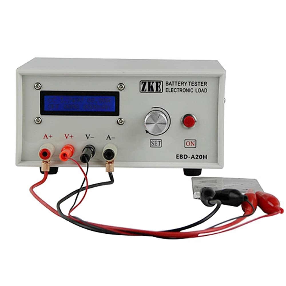 Power Battery Capacity Tester Electronic Load Tester with Multiple Discharge Modes and LCD Display for Various Battery Capacity Tests and Power Tests