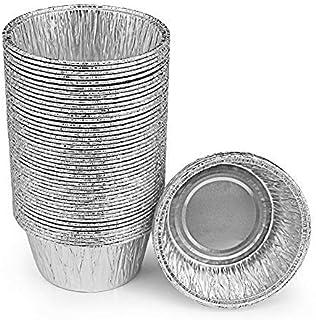 """Ben & Paul Disposable 3"""" Aluminum Foil Tart/Pie Pans (50 Pack)"""