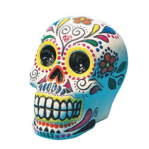 Color-Me Ceramic Bisque Skull Banks (Pack of 12)