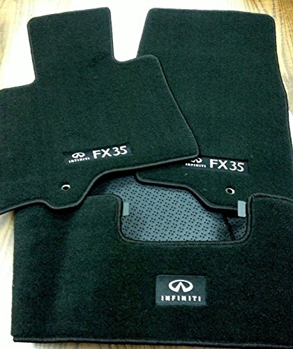 Infiniti Details About 2009 to 2012 FX35 Factory OEM Carpeted Floor Mats - Complete 3 Piece Set -Black