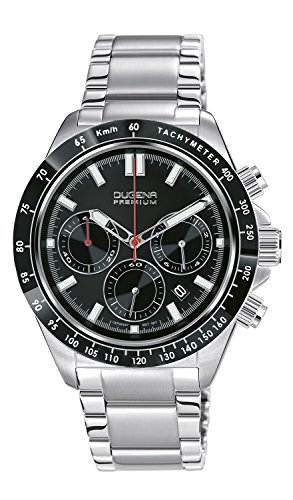 Dugena Herren-Armbanduhr Imola XL Chronogarph - Sport Line Analog Quarz Edelstahl 7090170