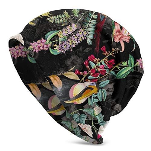 PGTry Multifunktionale Beanie-Mütze, Strickmütze, modisch, Outdoor-Beanie, Totenkopf, Kopfbedeckung, Blumen- und Vogelhecken-Kappe für Männer und Frauen