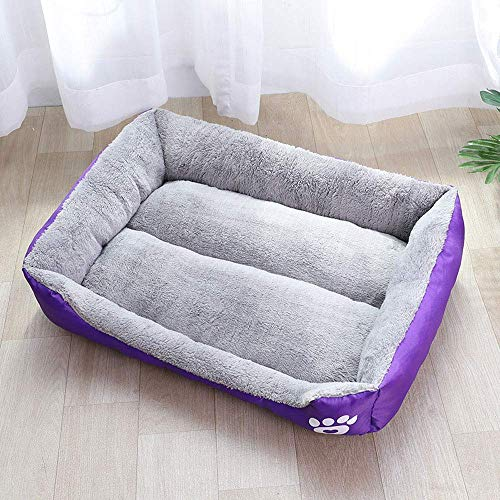 YLCJ puppy voor huisdieren, volledig katoen, hoge rand, zeer zacht en comfortabel, universeel klimaat, goede ademend, waterdicht en vochtbestendig, duurzaam, B, M, Small, B