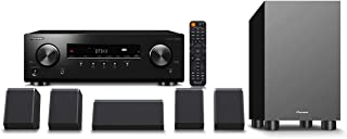 Pioneer HTP-076 Home Theater Package with 5.2-Channel AV Receiver, 5 Speakers, 1 Subwoofer, Dolby Atmos, DTS:X, Dolby Atmos Height Virtualizer, DTS Virtual:X, 4K Ultra HD Upscaling,Dialog Enhancement
