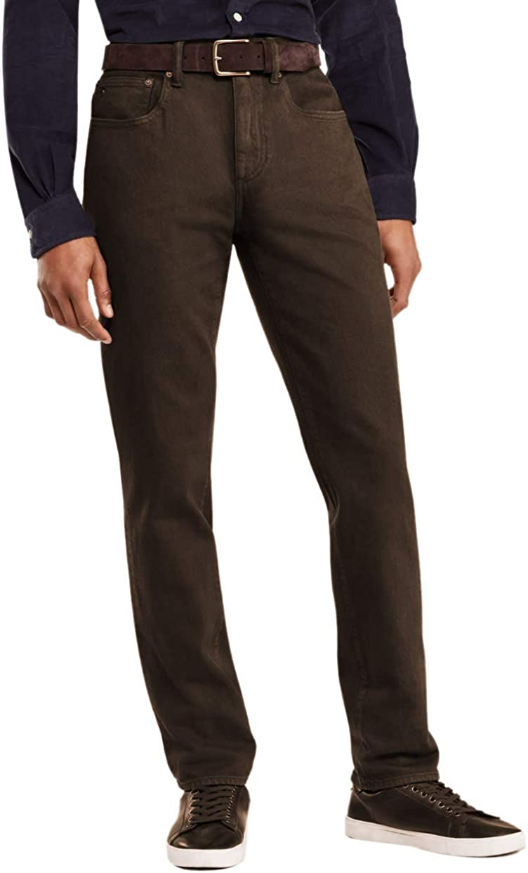 Brooks Brothers Mens Five Pocket Twill Cotton Casual Pants Dark Brown