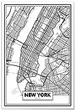 Panorama Póster Mapa de Nueva York 35x50cm - Impreso en Papel 250gr - Póster Pared - Cuadros Modernos Decoración Salón - Cuadros para Dormitorio - Póster Decorativos
