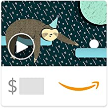 Amazon eGift Card - Birthday Sloth (Animated)