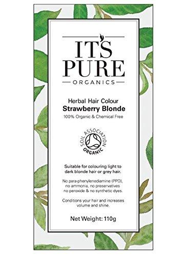 Organic Hair Dye - It's Pure Organics Herbal Hair Colour Strawberry Bl