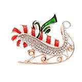 WSNDXZZ Broche de Mujer Broche de Trineo de Navidad Broche de Vacaciones para Mujer Accesorios de Esmalte
