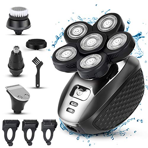 Electric Razor for Men, 5-in-1 Head Shavers for Bald Men Wet and Dry,...