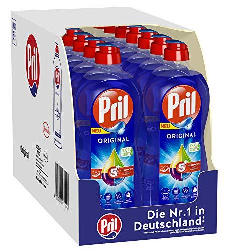 Pril 5 Plus Original, Handgeschirrspülmittel, (14 x 675 ml) mit selbstaktiver Fettlösekraft