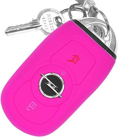 Auto Schlüssel Hülle Silikon Schutz Cover Pink Elektronik