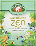 Elephant Infusion Mon Moment Zen, Lavande Fleur d'Oranger Orange Menthe, 25 Sachets Pyramides