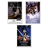 POSTER STOP ONLINE Star Wars Episode IV, V & VI - Movie Poster Set (Size 24' x 36' each)