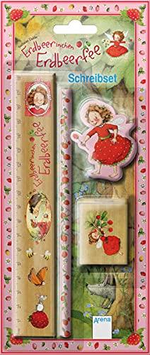Erdbeerinchen Erdbeerfee. Schreibset: Mit Bleistift, Lineal, Spitzer aus Holz und Radiergummi