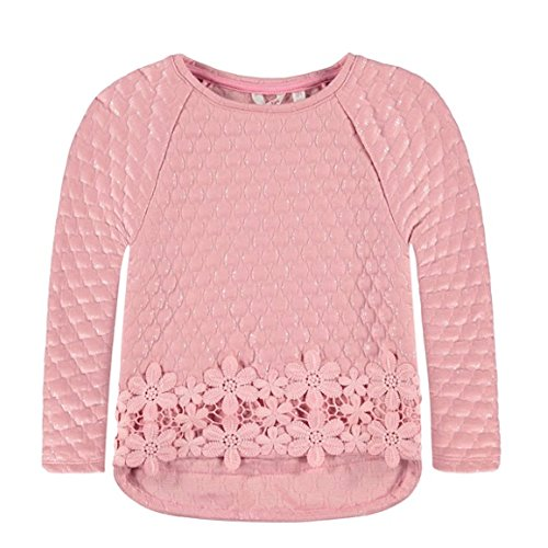 Pampolina Mädchen Pullover, Langarmshirt, Vokuhila Shirt, Once Upon A TIME 6694253, rosa (104)
