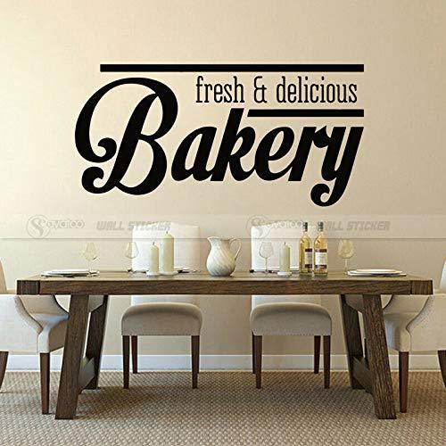 JXLLCD Frische Bäckerei mit Aufklebern und Grafiken köstliche Vinyl Wandtattoo Kunst Café Küche Wandmalerei Poster Zitat 57X115 cm