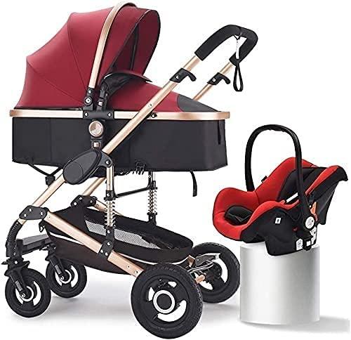 Cochecitos para bebés y cochecitos, kinderkraft pram 3 en 1 conjunto, sistema de viaje, silla de bebé, buggy, plegable, con asiento de coche infantil, ventilador para bebés, cubierta de lluvia, soplín