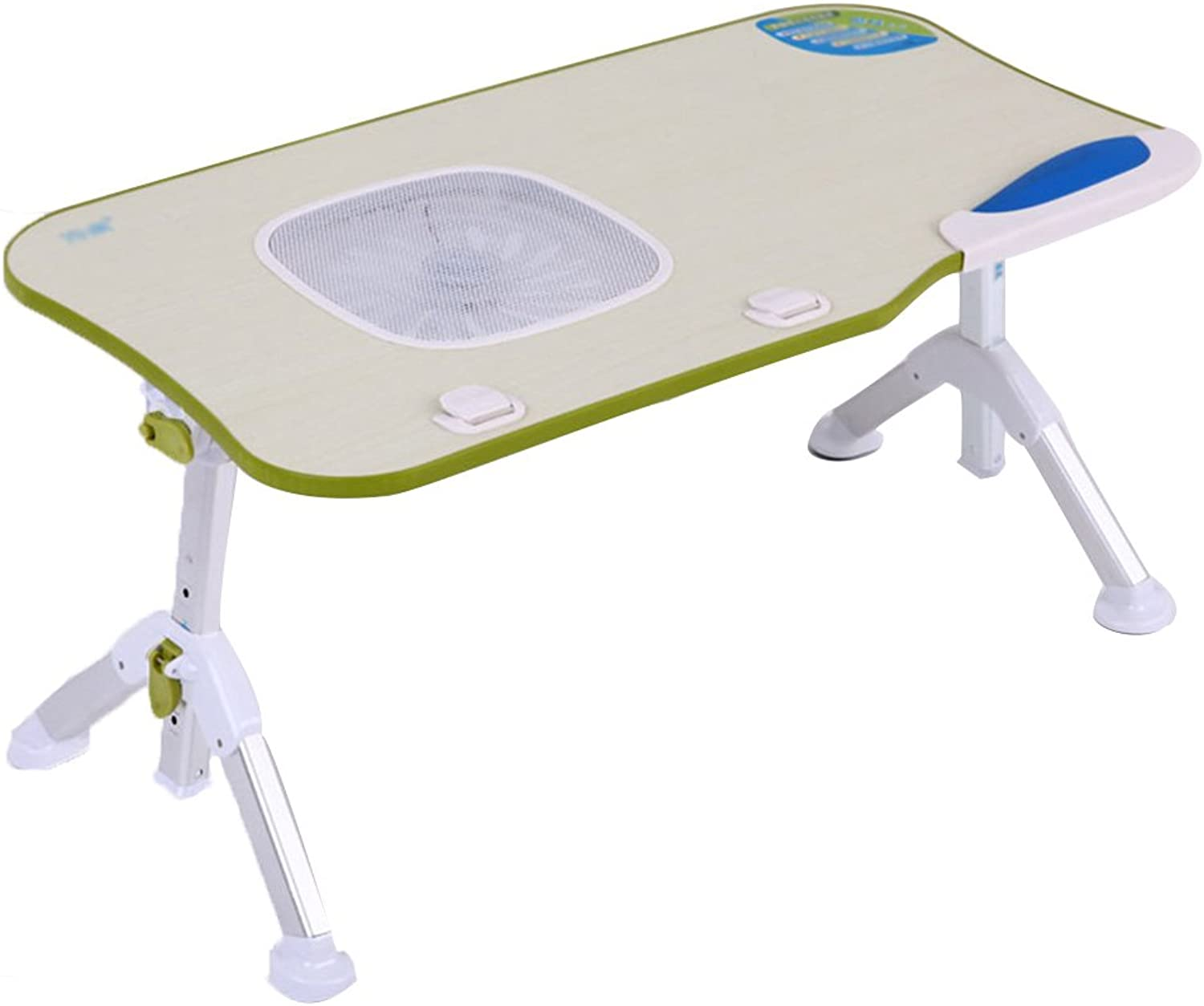 Laptop Table Bed Folding Table Environmental Predection Thick Material Strong Stability (color   Green)