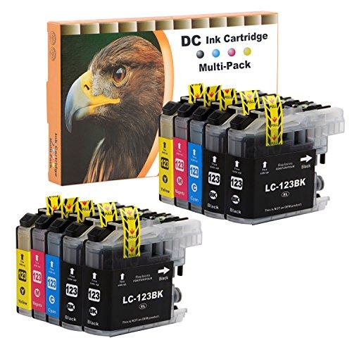 D&C 10er Set Druckerpatronen Kompatibel für Brother LC-123 LC123 XL für MFC-J6520DW MFC-J6720DW MFC-J6920DW MFC-J870DW DCP-J132W DCP-J152W DCP-J172W DCP-J4110DW DCP-J552DW DCP-J752DW MFC-J245 J4410DW