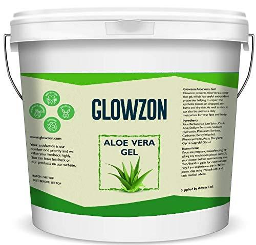 1KG 99% Pure Fresh Aloe Vera Gel for Face, Skin & Hair Moisturizer Vegan – By Glowzon