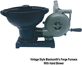 Vintage Style Blacksmith's Forge Furnace with Hand Blower Pedal Type Handle Fan