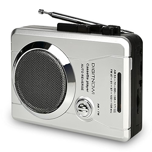 DIGITNOW!AM/FM Portable Pocket Radio and Voice Audio Cassette Recorder,Personal Audio Walkman Cassette Player with Built-in Speaker and Earphone