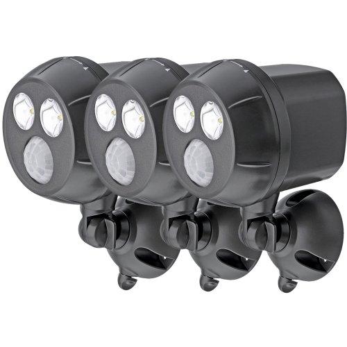 Mr Beams drahtloser, batteriebetriebener, heller LED Spot mit Bewegungssensor für den Innen & Außenbereich braun MB393 (3er-Pack)