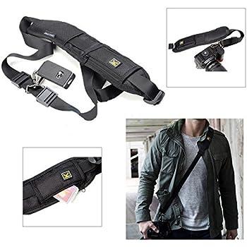 Black Single Shoulder Sling Belt Strap for Nikon D5100 D3100