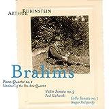 Rubinstein Collection, Vol. 3: Piano Quartet no. 1 / Violin Sonata no. 3 / Cello Sonata no. 1 - Arthur Rubinstein