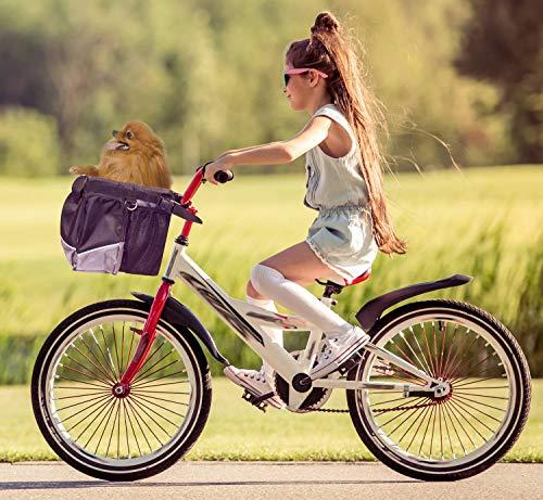 PETGARD Sac de Transport pour Panier de vélo pour Chien et Chat jusqu'à 7 kg
