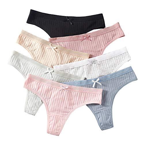 Yidarton Hose Pack Damen Spitze Wäsche Dessous Verführerisch String Fit Lingerie Soft Tange Thong Underwear Set(Stil-7co,S