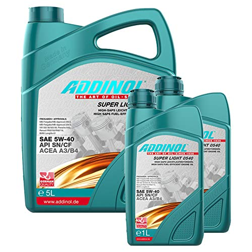 Addinol Motoröl 5W-40 Super Light 0540 5L + 2X 1L