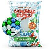 Gumballs for Gumball Machine Refill - 0.5 Inch Small Gumballs Bulk - 1 Lb Triple Cool Mint Gum - Mini Bubble Gum Balls - 260 pcs